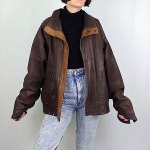 Vintage Outback brown leather jacket